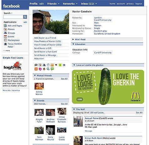 Gherkin Facebook App